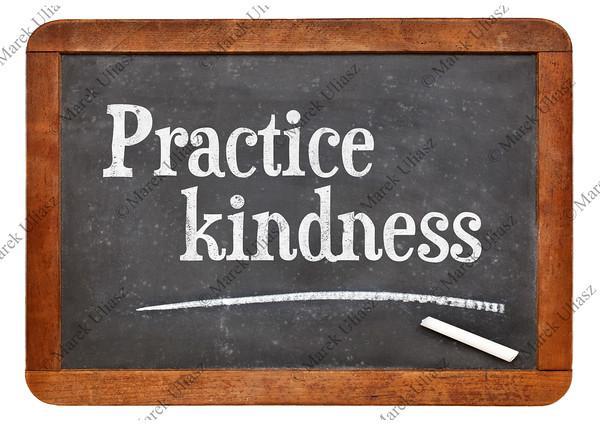 Practice kindness on blackboard