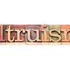 altruism word typography