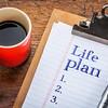Life plan concept or list