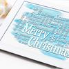 Merry Christmas greetings word cloud
