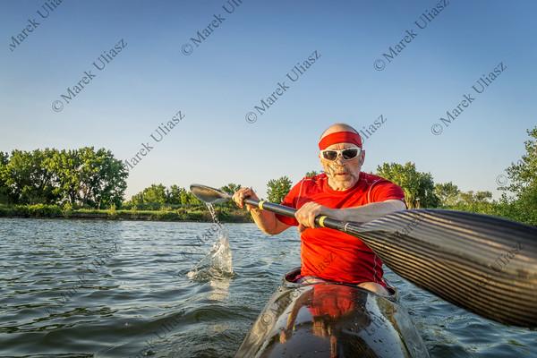 paddling racing sea kayak
