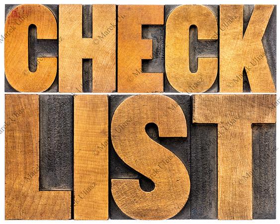 checklist word typography