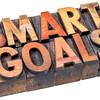 smart goals in vintage wood type