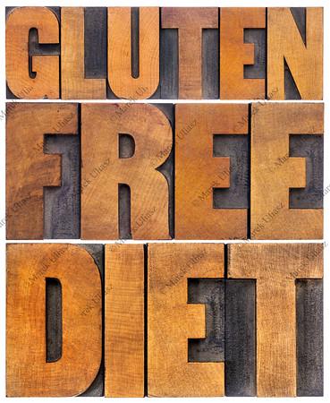 gluten free diet word abstract