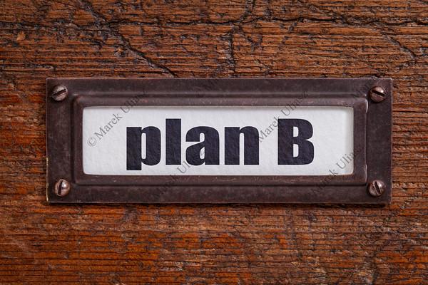 plan B - file cabinet label