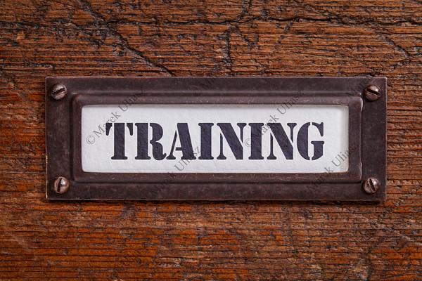 training - file cabinet label