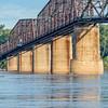vintage Mississippi River bridge