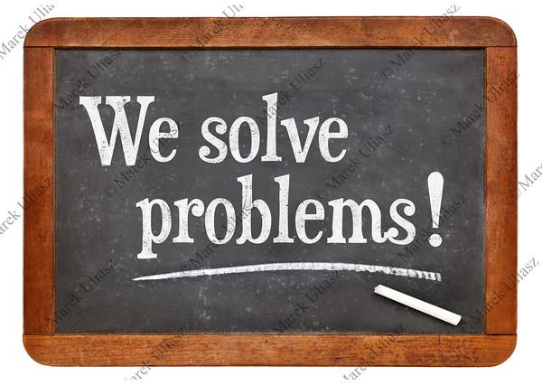 We solve problems - service marketing