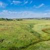prairie at Colorado foothills - aerial view