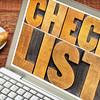 checklist word typography on laptop