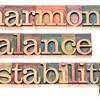 harmony, balance and stability