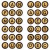 twelve  months - symbols in typewriter keys