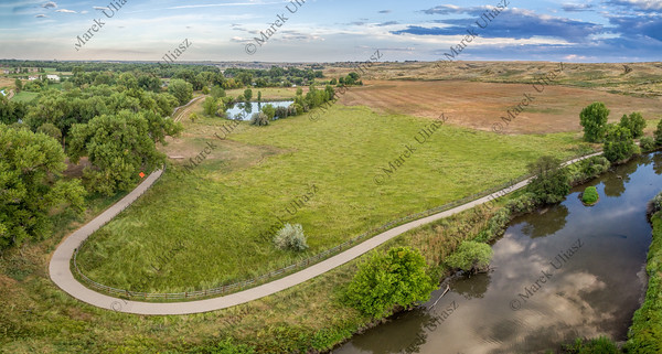Poudre River Trail aerial view