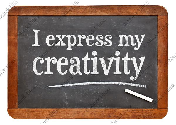I express my creativity positive affirmation