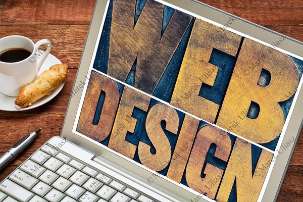 web design on laptop screen