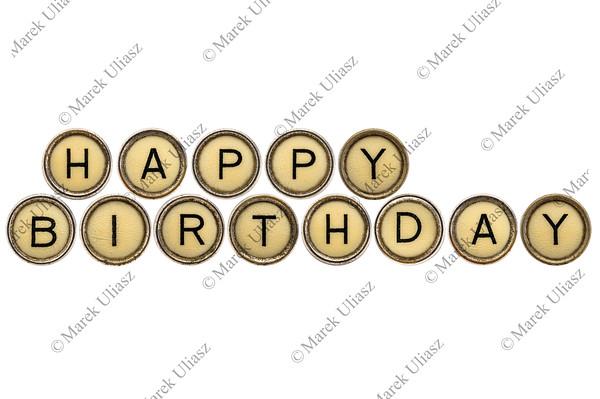 Happy Birthday in typewriter keys