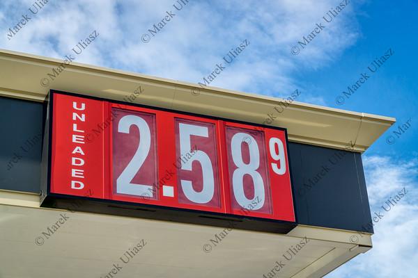 gasoline pricing sign