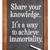 Share knowledge advice on blackboard