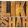 like, share, follow word abstract