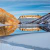 Horsetooth Reservoir in winter scenery
