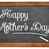 happy mother day on blackboard