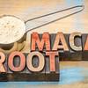 scoop of maca root powder