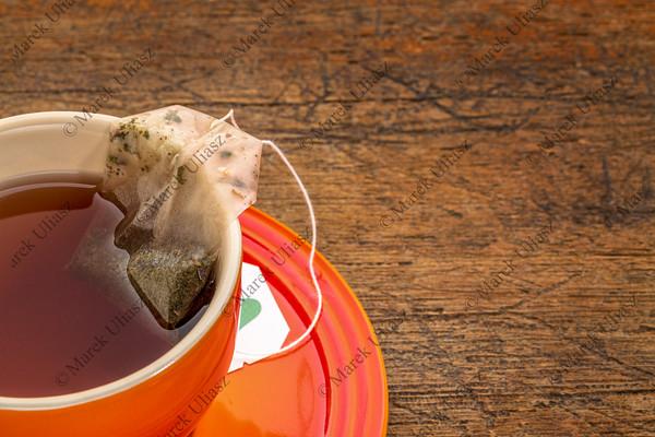 cup of herbal green tea