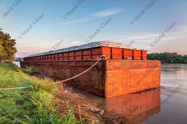 barge on Missouri River