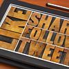 like, share, tweet, follow words on tablet
