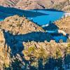 Seaman Reservoir in Rocky Mountains