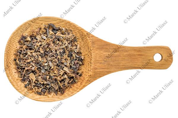 Irish moss seaweed - isolated spoon