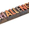 challenge in vintage wood type