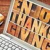 Enjoy Thanksgiving typography