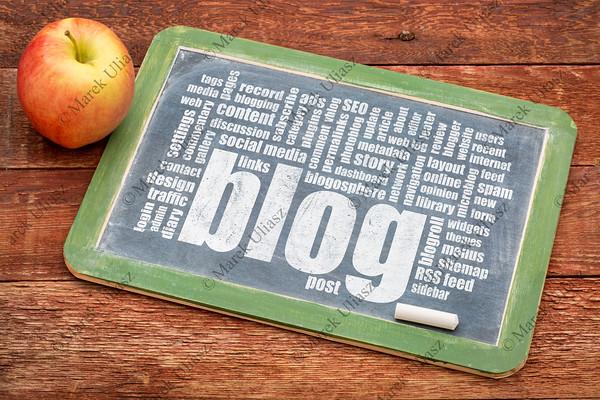 blog word cloud on blackboard