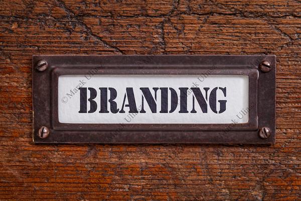 branding file cabinet label