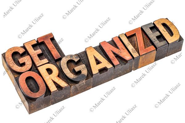 get organized in letterpress wood type
