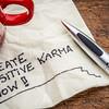 create positive karma - text on napkin