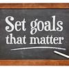 Set goals that matters on blackboard