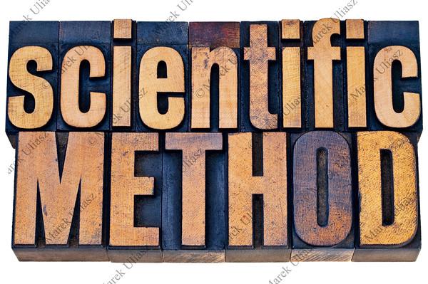 scientific methodwood typography