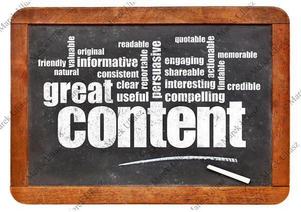great content word cloud on blackboard