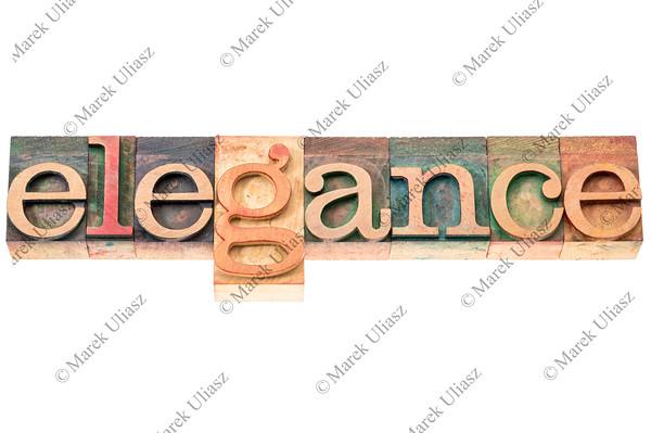 elegance word typography