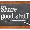 Share good stuff on blackboard