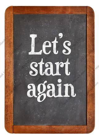 Let us start again on blackboard