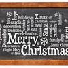 Merry Christmas word cloud