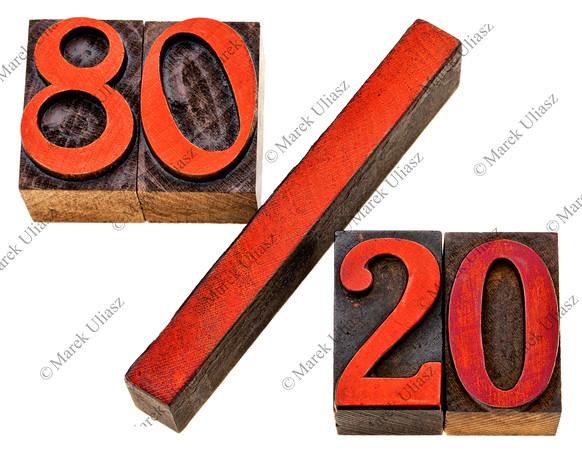 Pareto principle in letterpress wood type