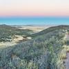 singletrack bike trail and rolling prairie
