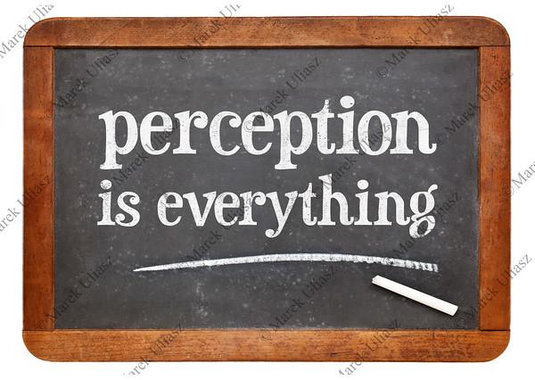Perception is everything on blackboard