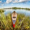 canoe in fish eye lens perspectrive