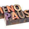 menopause word in wood type