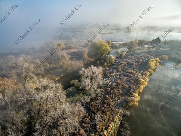 foggy November sunrise over northern Colorado